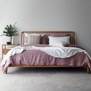 Spindle Teak Bed Frame
