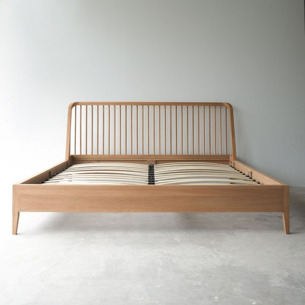Spindle Teak Bed Frame