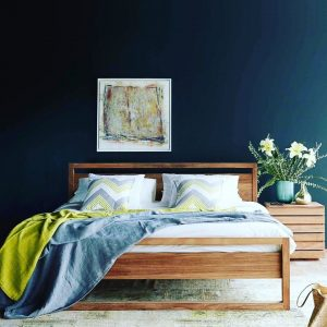 Teak Light Frame Bed